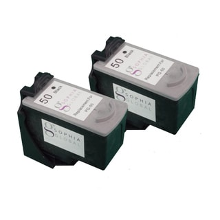 Sophia Global Remanufactured Black Ink Cartridge Replacement for Canon PG-50 (Pack of 2)