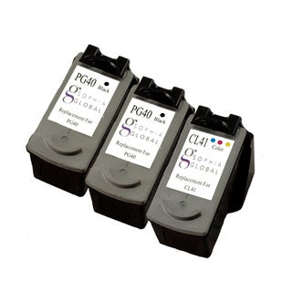 Sophia Global Remanufactured Ink Cartridge Replacement for Canon PG-40 and CL-41 (Pack of 3)