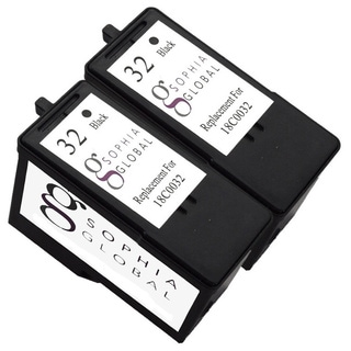Sophia Global Lexmark 32 Remanufactured Black Ink Cartridge Replacement (Set of 2)