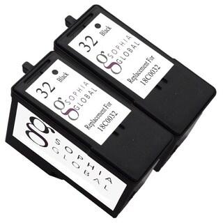 Sophia Global Lexmark 32 Remanufactured Black Ink Cartridge Replacement (Set of 2)