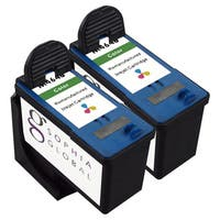 Sophia Global Dell M4646 Remanufactured Color Ink Cartridge Replacement (Set of 2)