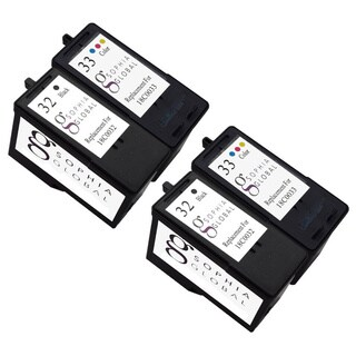 Sophia Global Lexmark 32 and Lexmark 33 4-piece Remanufactured Ink Cartridge Replacement Set