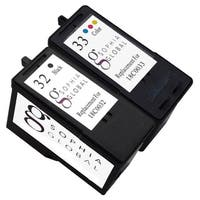 Sophia Global Lexmark 32 and Lexmark 33 2-piece Remanufactured Ink Cartridge Replacement Set