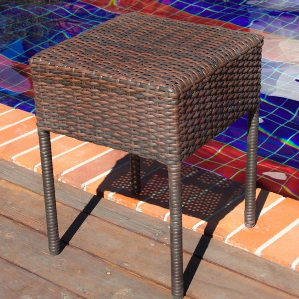 Sadie Wicker Outdoor Side Table