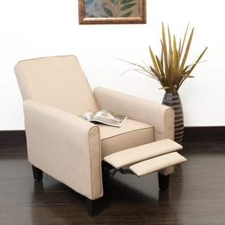 Darvis Camel PU Leather Recliner Club Chair By Christopher Knight Home