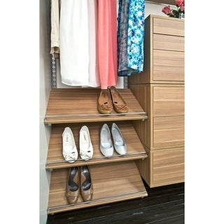 Organized Living freedomRail 30x14-inch Cypress Live Shoe Shelf