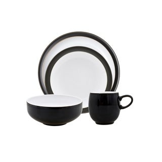 Denby Jet Black 4-piece Place Setting  sc 1 st  Overstock.com & Denby Jet Black 12-piece Dinnerware Set - Free Shipping Today ...