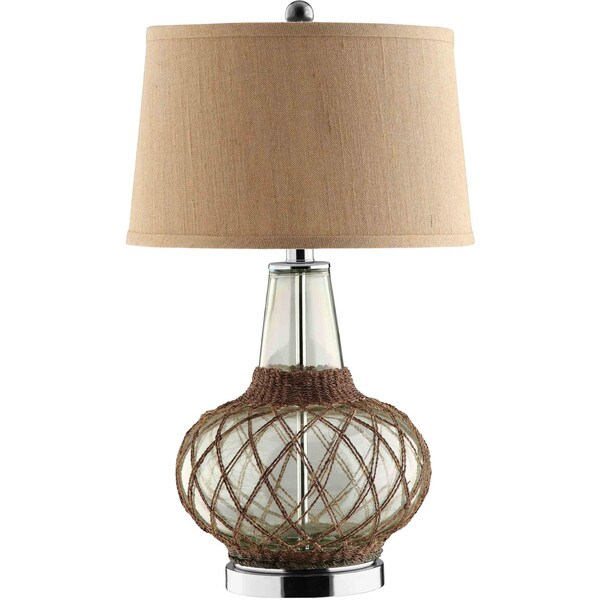 Genie Glass 1-light Steel Table Lamp