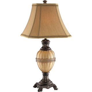 Krista 1-light Antique Gold Table Lamp with Night Light