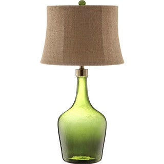 Trent Glass 1-light Green Table Lamp