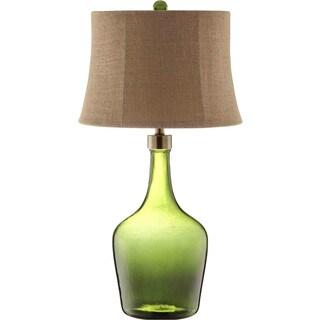 Trent Glass 1 Light Green Table Lamp