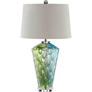 Sheffield Glass 1-light Blue/ Green Table Lamp