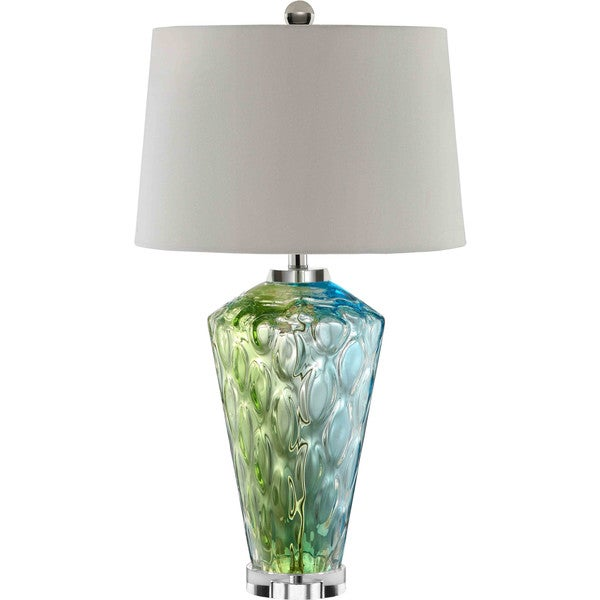 Sheffield Glass 1 Light Blue Green Table Lamp