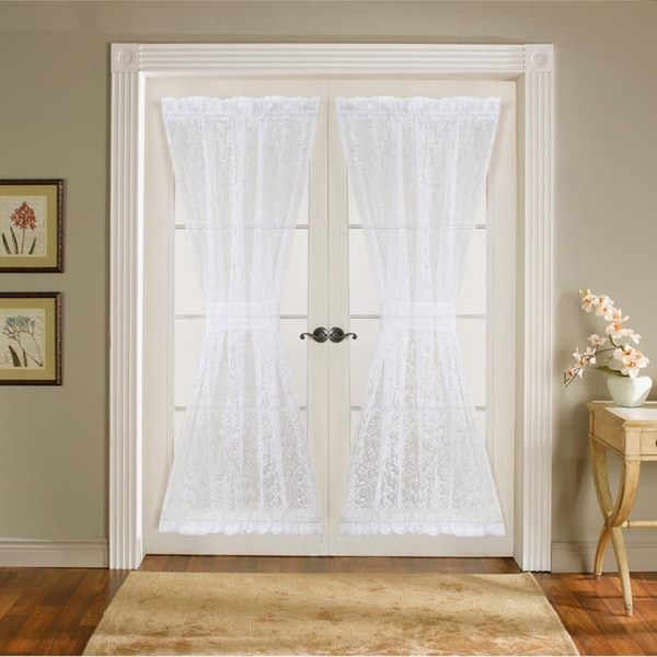 Lush Decor Duke White 72 Inch Garden Door Panels Curtain