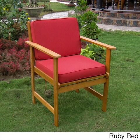 International Caravan Royal Tahiti Gulf Port Arm Chairs with Cushions (Set of 2)