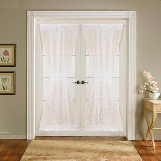 Lush Decor Ivory 72-inch Duke Garden Door Panels (Set of 2)