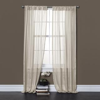 Lush Decor Rhythm Ivory 84 inch Sheer Curtain Panel Pair