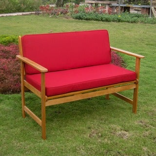 International Caravan Royal Tahiti Patio Bench with Cushions