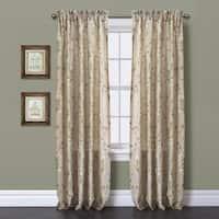 Lush Decor Beige 84 Inch Garden Suite Curtain Panel Free