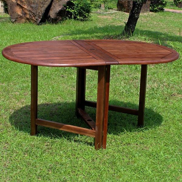 international caravan miami acacia hardwood oval outdoor folding, Dining tables