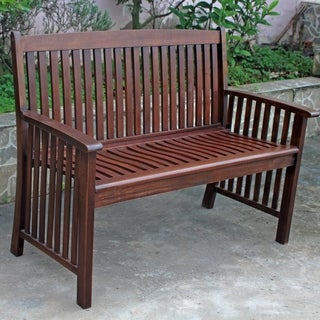 Bradley Outdoor White Weather Resistant Wood Bench