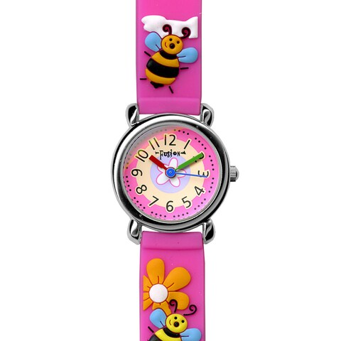 Fusion Kids' Pink Bumblebee Watch