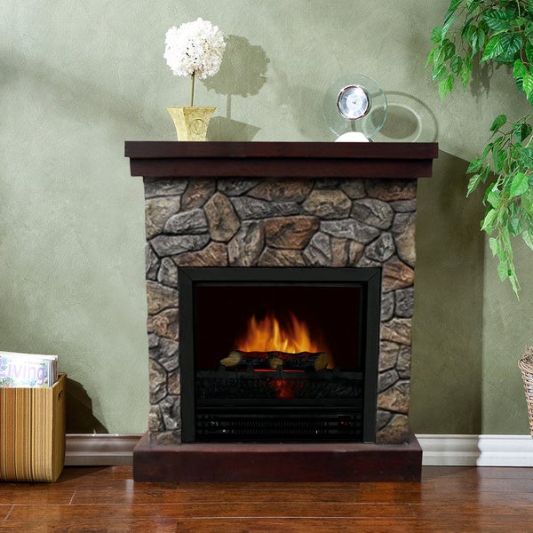 garden shipping free overstock electric product dfbe home watt polystone telluride fireplace