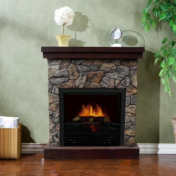 Telluride 1250 Watt Polystone Electric Fireplace Free