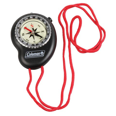 Coleman Black/ Red LED Lit Compass