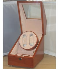 Cherry Double Watch Winder Box for 5 Watches