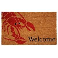 'Lobster' Coir/ Vinyl Weather-resistant Doormat (1'5 x 2'5)