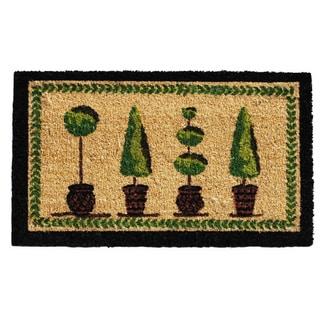 'Topiary' Coir/ Vinyl Weather-resistant Doormat (1'5 x 2'5)