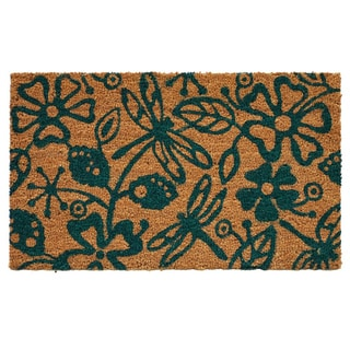 Dragonflies Coir with Vinyl Backing Doormat (1'5 x 2'5)