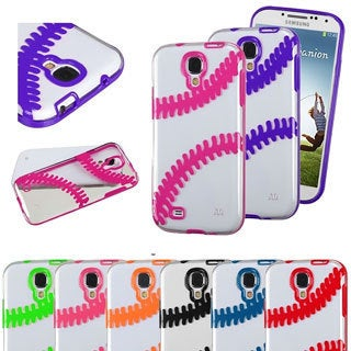 INSTEN Transparent Baseball Phone Case Cover for Samsung Galaxy S4