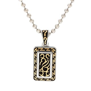 Spikes 316L Stainless Steel Gold IP Tribal Dog Tag Pendant