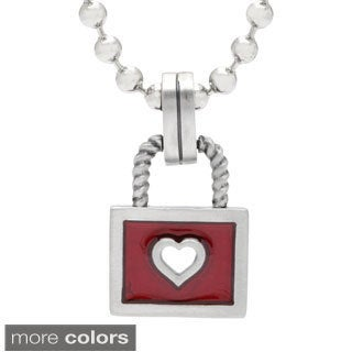 Bico Australia Cherished Heart Lock Resin Pendant