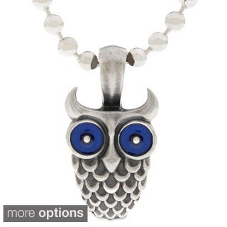Bico Australia Pewter Owl Pendant Necklace