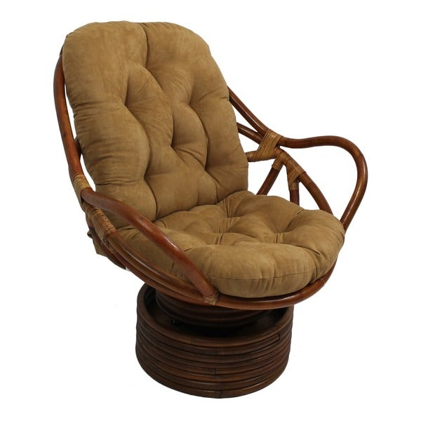 Product on rattan rocking chair replacement cushions