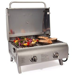 Cuisinart CGG-306 Chef's Style Stainless Tabletop Gas Grill|https://ak1.ostkcdn.com/images/products/8814747/Cuisinart-CGG-306-Chefs-Style-Stainless-Gas-Grill-P16049236.jpg?impolicy=medium
