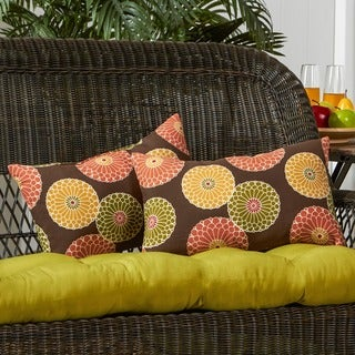 19x12-inch Rectangular Contemporary Outdoor Accent Pillows - 12h x 19l