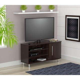 Inval Espresso-wenge Curved-front Flat Panel TV Stand