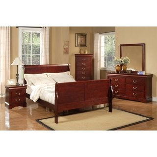 Alpine Furniture Louis Philippe II 4-piece Bedroom Set - Cherry