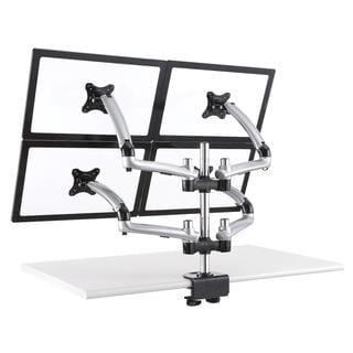 Cotytech Silver Four Monitor Desk Mount Spring Arm