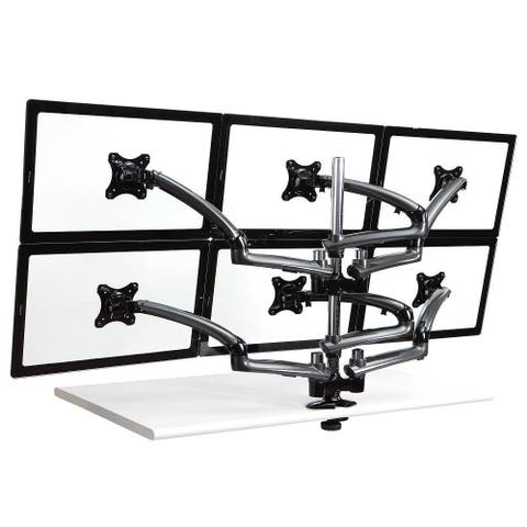 Cotytech Dark Grey Six Monitor Desk Mount Spring Arm
