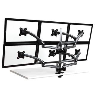 Cotytech Dark Grey Six Monitor Desk Mount Spring Arm