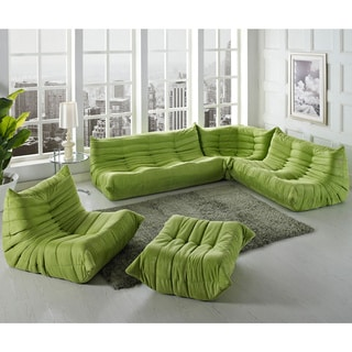 Waverunner Green 5-piece Modular Sectional Sofa Set