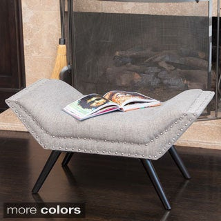 Rosalynn Tufted Fabric Ottoman/Bench by Christopher Knight Home