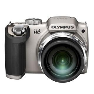 Olympus SP-620UZ 16MP Silver Digital Camera