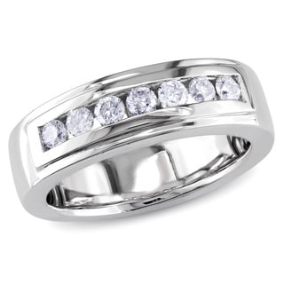 Miadora 14k White Gold 1/2ct TDW Diamond Anniversary Ring