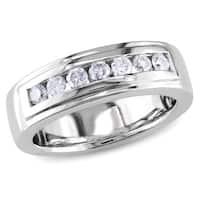 Miadora 14k White Gold 1/2ct TDW Diamond Anniversary Ring